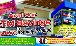 Selected MSU-IIT NMPC branches are now serving ATM savings for its members